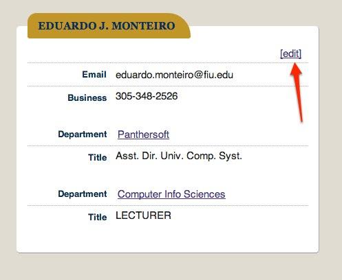 UsersGuide FIU Faculty/Staff (XML) | FIU Phonebook